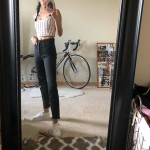 Levi's Washed Cropped Straight Jeans